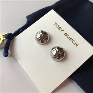 Tory Burch Jewelry - Tory Burch Dome Logo Stud Earrings